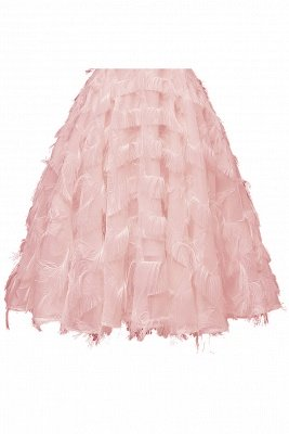 Lovely off-the-shoulder Artifical Feather Princess Vintage Homecoming Dresses_9