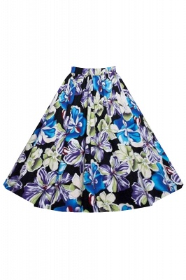 Retro A-line Floral?Printed Short Skirt_5