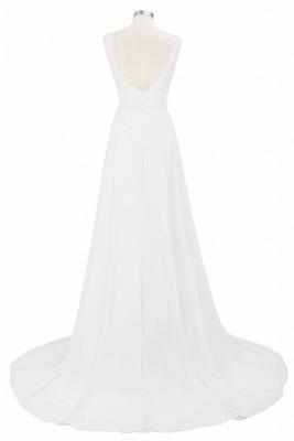 Cheap Grape A-line Sleeveless Sweep Train Prom Dress_5
