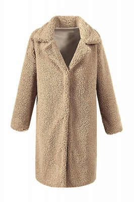 Women Thick Winter Faux Shearling Taffeta Coat_3