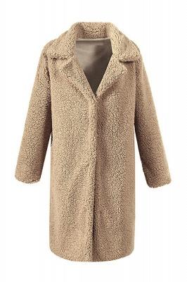 Women Thick Winter Faux Shearling Taffeta Coat_3