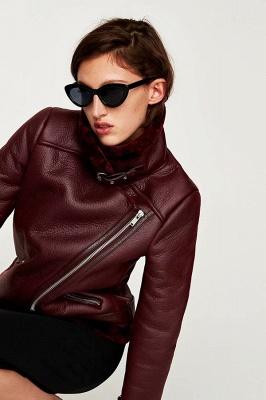 Women's Winter Velvet Pu Leather Jacket_18