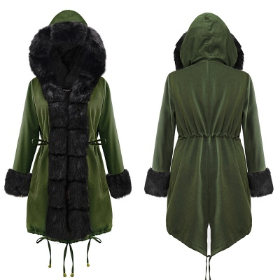 Hunt Hooded Parka Coat with Premium Fur Trim_15
