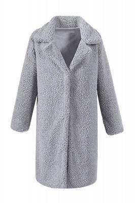Women Thick Winter Faux Shearling Taffeta Coat_7