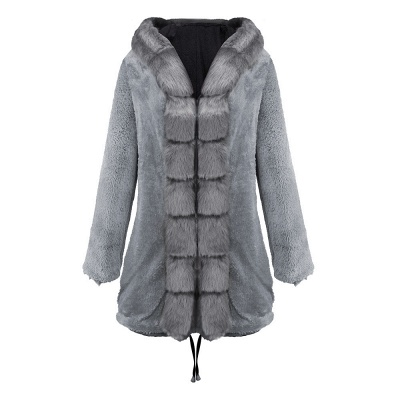 Premium Fur Trimmed Parka Coat with Faux Fur Hood_38