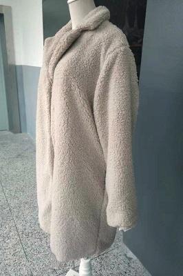 Women Thick Winter Faux Shearling Taffeta Coat_18