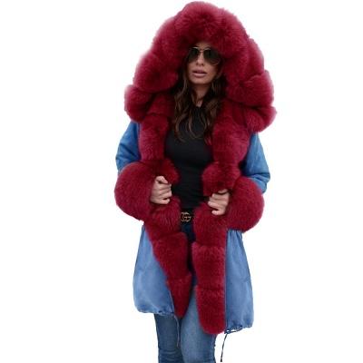 Parka Coat with Premium Fur Trim and Faux Fur Hood_41