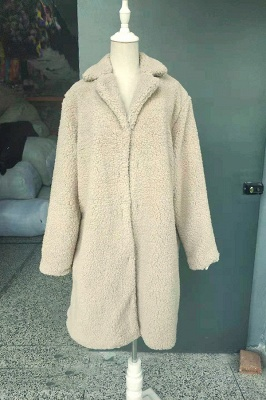 Women Thick Winter Faux Shearling Taffeta Coat_22