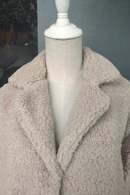 Women Thick Winter Faux Shearling Taffeta Coat_19