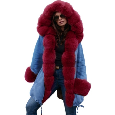 Parka Coat with Premium Fur Trim and Faux Fur Hood_46