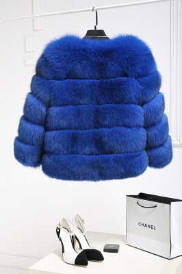 Tiered Fox Fur Coat with Full Fur Collar and Cuffs_23