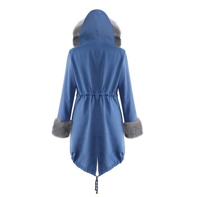 Parka Coat with Premium Fur Trim and Faux Fur Hood_31