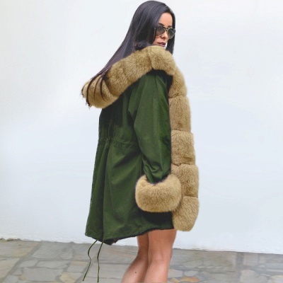 Hunt Hooded Parka Coat with Premium Fur Trim_8