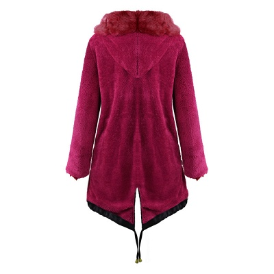 Premium Fur Trimmed Parka Coat with Faux Fur Hood_19