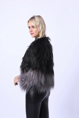 Women's Lovely Pink Faux Fur Duster Coat_7