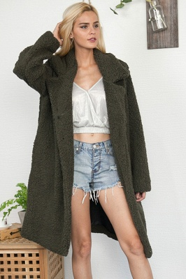 Women Thick Winter Faux Shearling Taffeta Coat_6