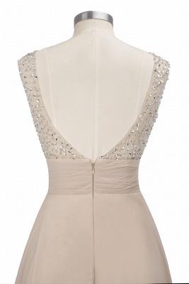 Cheap Grape A-line Sleeveless Sweep Train Prom Dress_12