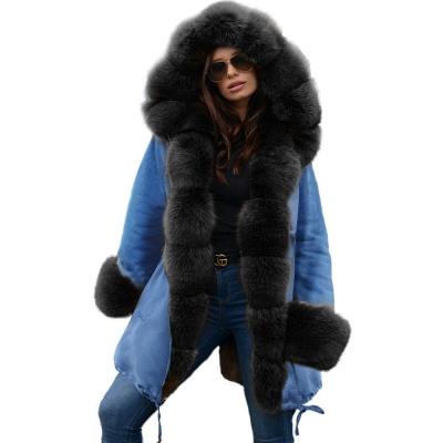 Parka Coat with Premium Fur Trim and Faux Fur Hood_25