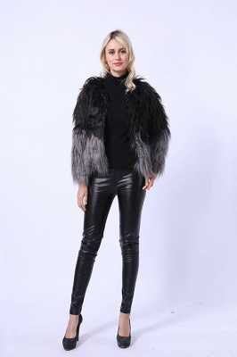 Women's Lovely Pink Faux Fur Duster Coat_8