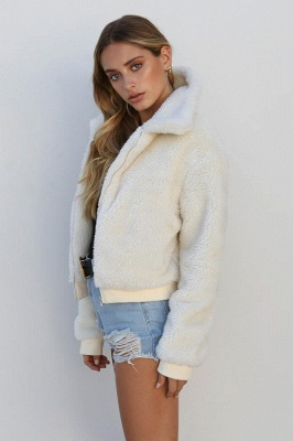 Thick Oversized Faux Shearling Coat with Zipper_15