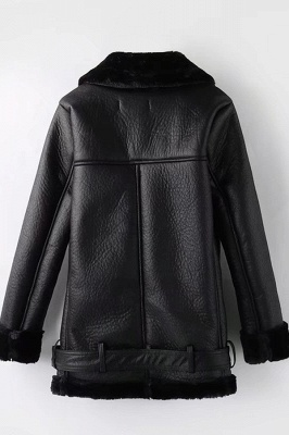 Women's Winter Velvet Pu Leather Jacket_5