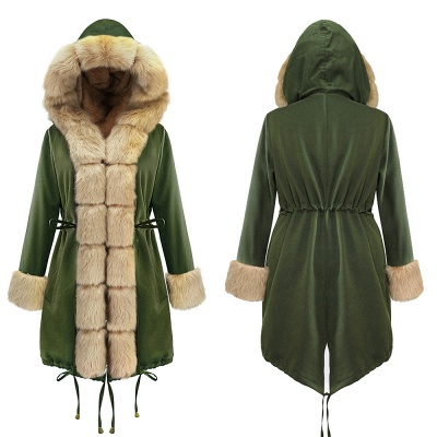 Hunt Hooded Parka Coat with Premium Fur Trim_18