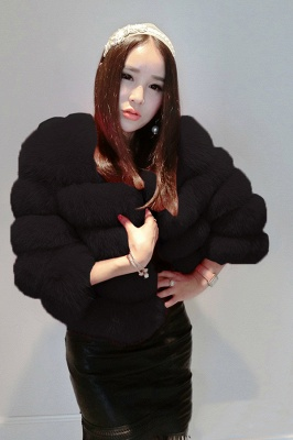 Tiered Fox Fur Coat with Full Fur Collar and Cuffs_8