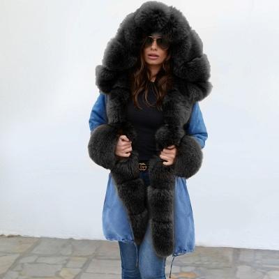 Parka Coat with Premium Fur Trim and Faux Fur Hood_10