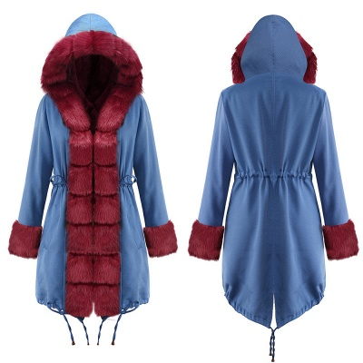 Parka Coat with Premium Fur Trim and Faux Fur Hood_21