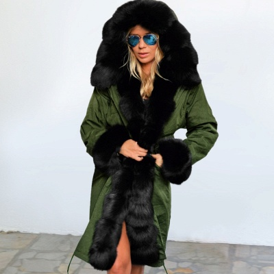 Hunt Hooded Parka Coat with Premium Fur Trim_11