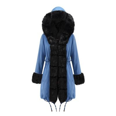Parka Coat with Premium Fur Trim and Faux Fur Hood_24