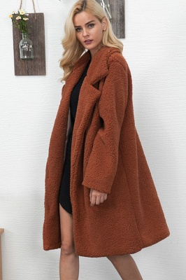 Women Thick Winter Faux Shearling Taffeta Coat_8