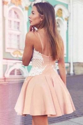 Elegant Spaghetti-Strap Homecoming Dresses   A-Line Appliques Cocktail Dresses_3