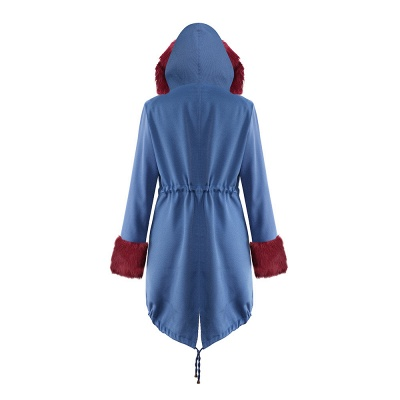 Parka Coat with Premium Fur Trim and Faux Fur Hood_35