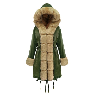Hunt Hooded Parka Coat with Premium Fur Trim_13