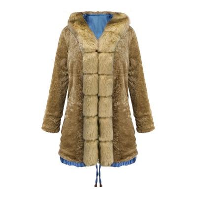 Parka Coat with Premium Fur Trim and Faux Fur Hood_47