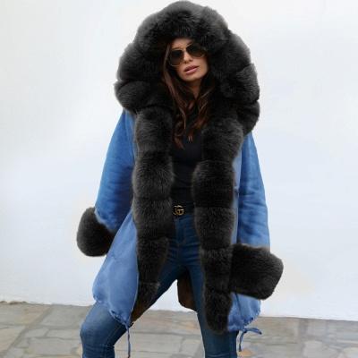 Parka Coat with Premium Fur Trim and Faux Fur Hood_8