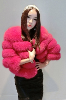 Tiered Fox Fur Coat with Full Fur Collar and Cuffs_4