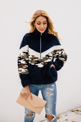 Womens Fuzzy  Halp Zip Fleece Winter Sherpa Sweaters Pullovers_7