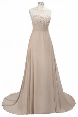 Cheap Grape A-line Sleeveless Sweep Train Prom Dress_8