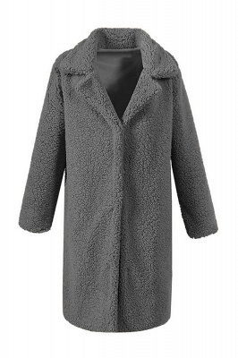 Women Thick Winter Faux Shearling Taffeta Coat_5