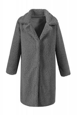 Women Thick Winter Faux Shearling Taffeta Coat_5