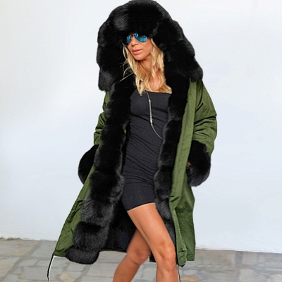 Hunt Hooded Parka Coat with Premium Fur Trim_10