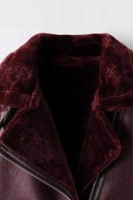 Women's Winter Velvet Pu Leather Jacket_15