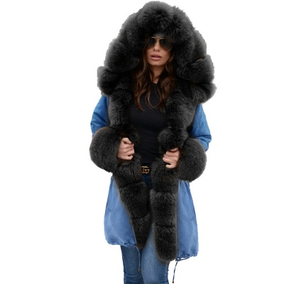 Parka Coat with Premium Fur Trim and Faux Fur Hood_29