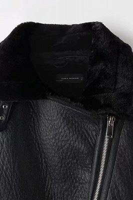 Women's Winter Velvet Pu Leather Jacket_11