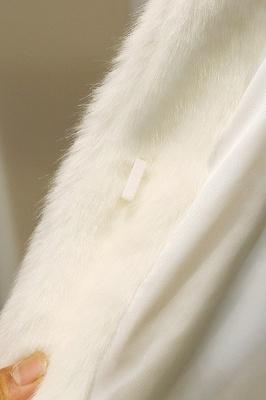 Black Cape Type Hooded Faux Fur Coat_24