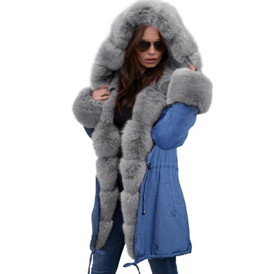 Parka Coat with Premium Fur Trim and Faux Fur Hood_40