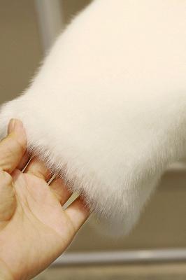 Black Cape Type Hooded Faux Fur Coat_20