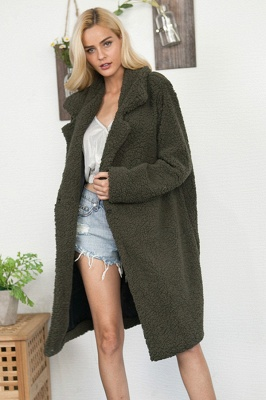 Women Thick Winter Faux Shearling Taffeta Coat_10
